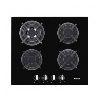 Plaque de Cuisson Vitro Crystal FOCUS F415B 4 Feux 60 cm Noir