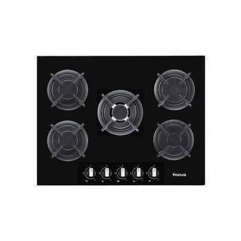 Plaque de Cuisson FOCUS F4179B 5 Feux 90 cm Noir prix tunisie