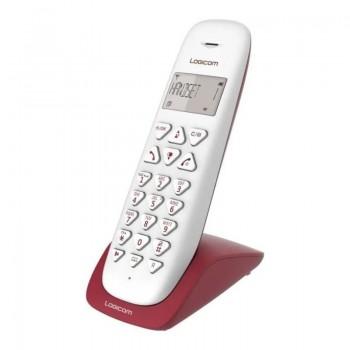 Téléphone Logicom solo sans fil Vega 150 - Rouge