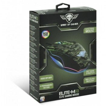 Souris Optique Gamer SPIRIT OF GAMER ELITE-M50 ARMY EDITION 2