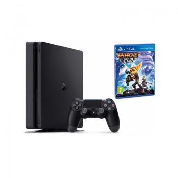 PlayStation 4 SONY 500 Go Slim + Jeu Rachet & Clank