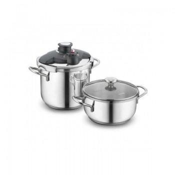 Set Korkmaz ALIA Pressure Cooker Cocotte + Casserole - Inox (A171 )