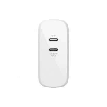 CHARGEUR SECTEUR BELKIN AVEC 2 PORTS USB-C PD BOOST CHARGE™ (18W) ET (63 W) prix tunisie