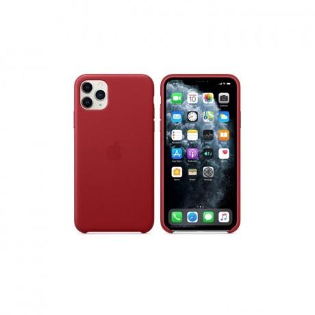 Étui en Cuir iPhone 11 pro max - Rouge
