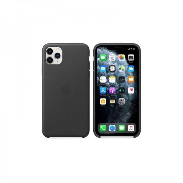 Étui en Cuir iPhone 11 pro max - Noir prix tunisie
