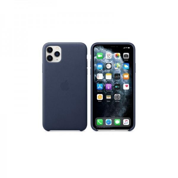 Étui en Cuir iPhone 11 pro max - Bleu prix tunisie
