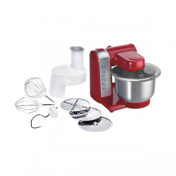 Robot De Cuisine Bosch 600W - MUM48R1- Rouge & Argent - prix tunisie