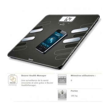 Pèse Personne Connecté Style Avec Bluetooth Beurer BF600 - prix tunisie