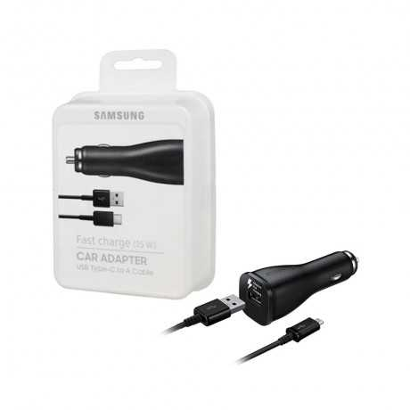 Chargeur Rapide Allume-Cigare SAMSUNG Type C Noir Tunisie