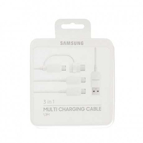 Câble SAMSUNG 3 en 1 Multi Charging EP-MN930GWEGWW Blanc