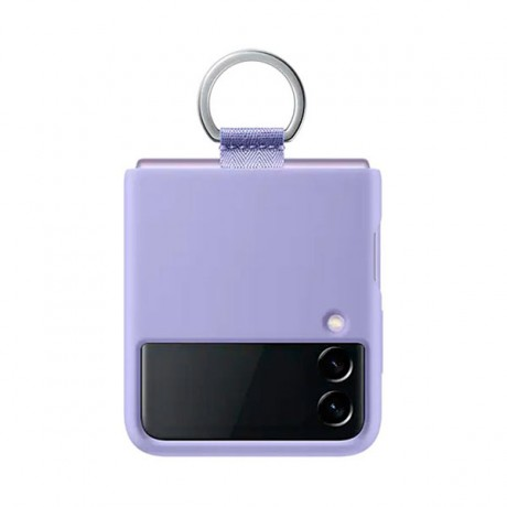 Samsung Galaxyz Z Flip3 Silicone Cover With Ring - Violet - EF-PF711TVEGWW -prix tunisie
