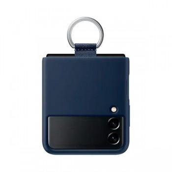 Samsung Galaxyz Z Flip3 Silicone Cover With Ring - Bleu - EF-PF711TVEGWW -prix tunisie