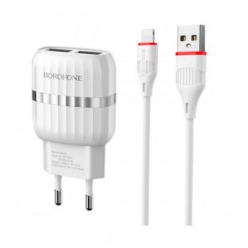 Chargeur Borofone BA24A 2,4A Iphone 2 Ports USB - prix tunisie