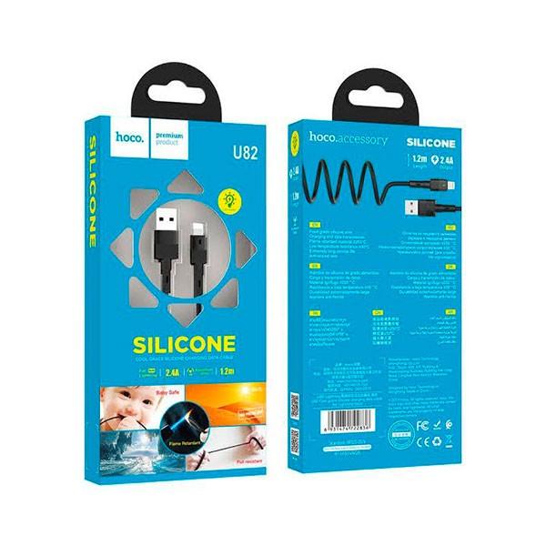 Câble USB HOCO u82 silicone 2.4A Pour Iphone 1M - prix Tunisie