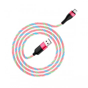Câble USB HOCO u82 Fast 2.4A Pour Micro-USB 1M Led - prix Tunisie