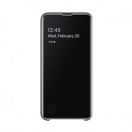 Clear view cover Galaxy S10 Noir