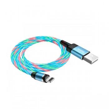 Câble HOCO U90 magnétique avec led 2A pour IPhone 1M - prix Tunisie
