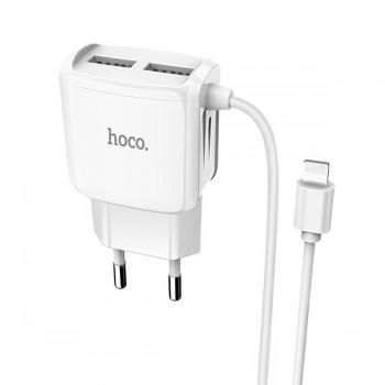 Chargeur Hoco C59A 2,4A pour IPhone 2 ports USB 1M - prix Tunisie