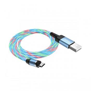 Câble HOCO U90 magnétique avec led 2A pour Micro-USB 1M - prix Tunisie