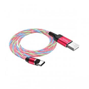 Câble HOCO U90 magnétique avec led 2A pour Type-C 1M - prix Tunisie