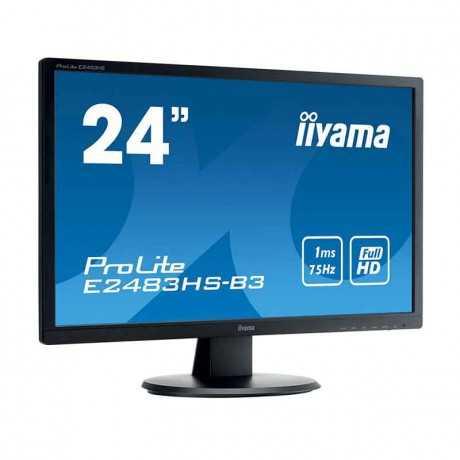 "Ecran IIYAMA ProLite 24"" LED FULL HD (E2483HS-B3) tunisie"