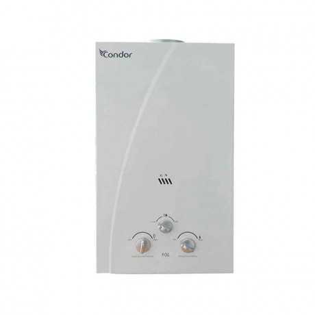 Chauffe Bain CONDOR 10 Litres Gaz Naturel Blanc (CJN10-C100)