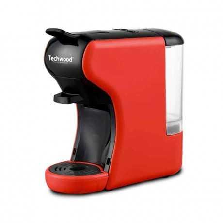 Machine à Café Expresso 2 en 1 TECHWOOD Nespresso & Dolce Gusto TCA-195N 1450W Rouge Tunisie