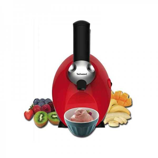 Machine à Dessert Glace TECHWOOD TIC-2055 Rouge Tunisie