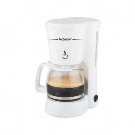 Cafetière Electrique TECHWOOD TCA-682650W 6 Tasses - Blanc