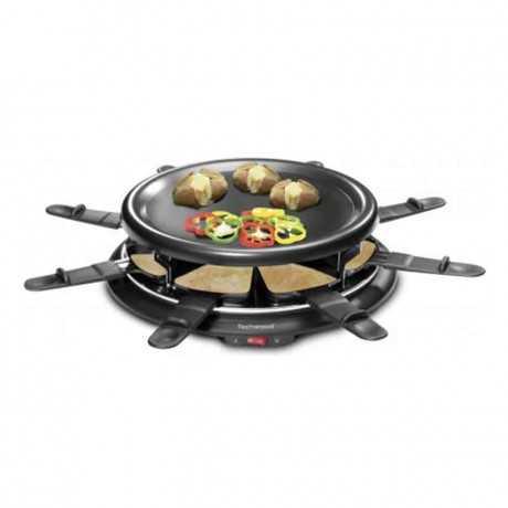 Raclette grill 8 personnes + crêpière TECHWOOD TRA-88 Noir
