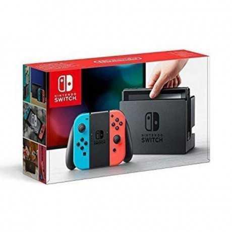 Console Nintendo Switch avec un Joy-Con Rouge et Bleu