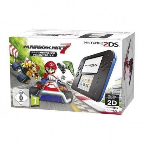 Console NINTENDO 2DS + Mario Kart 7 - Noir&Bleu