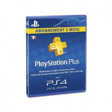 Carte Playstation Gaming PS4 Sony Plus Abonnement 3 Mois