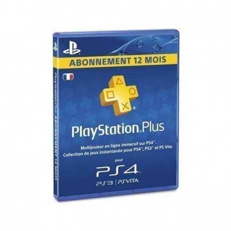 Carte PS4  Playstation Plus Abonnement 12 Mois