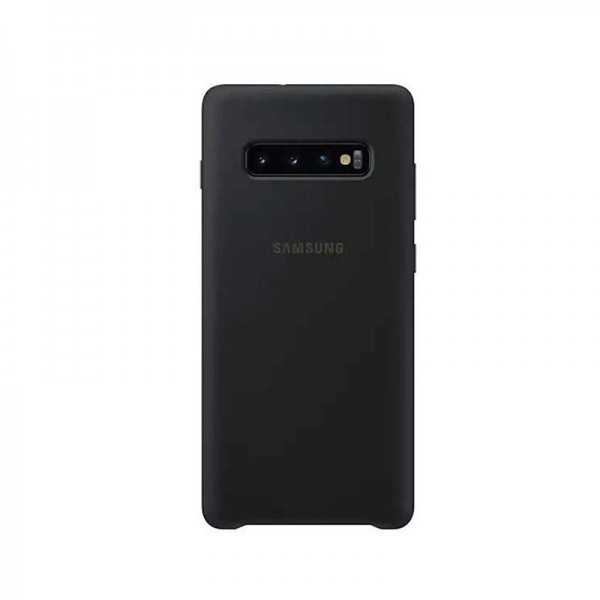 Silicone Cover Galaxy S10+ Noir EF-PG975TBEGUS Tunisie