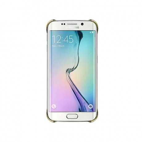 Clear Cover S6 Edge Gold