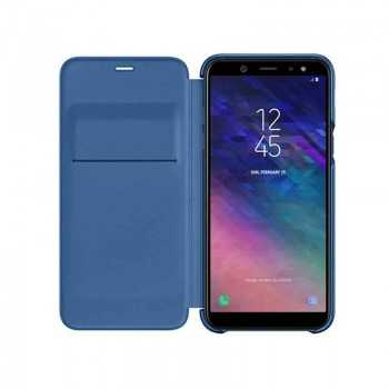 Galaxy A6+ Wallet cover Bleu