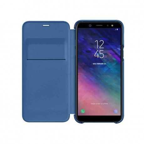 Galaxy A6+ Wallet cover Bleu