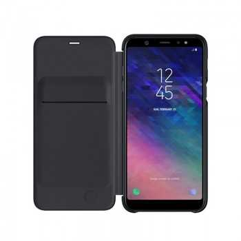 Galaxy A6+ Wallet cover Noir