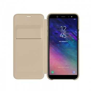 Galaxy A6+ Wallet cover Gold