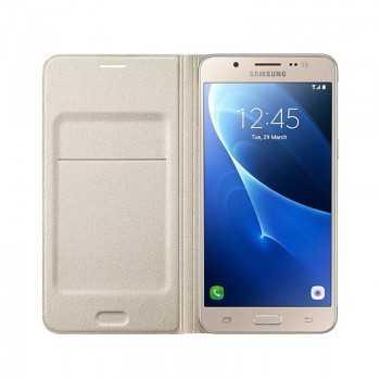 Flip Wallet Cover Galaxy J5 2016 Gold EF-WJ510PBEGWW Tunisie
