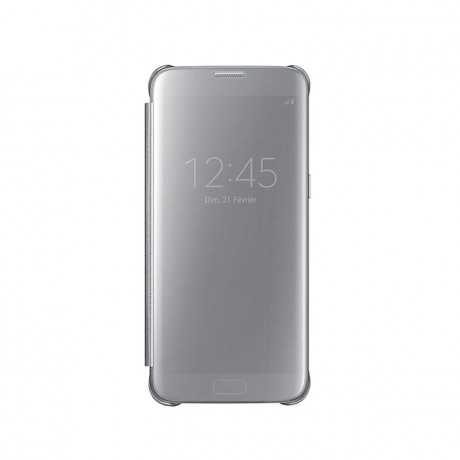 Etui Clear View Galaxy S7 edge Silver