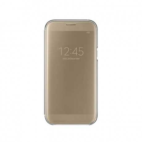 Clear View Cover Galaxy A7 2017 Gold