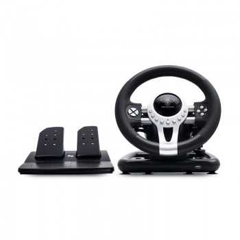 Pack Volant et Pédales SPIRIT OF GAMER R-ACE WHEEL PRO Pour PS2 / PS3 /XBOX ONE/X360/ PC Noir Tunisie