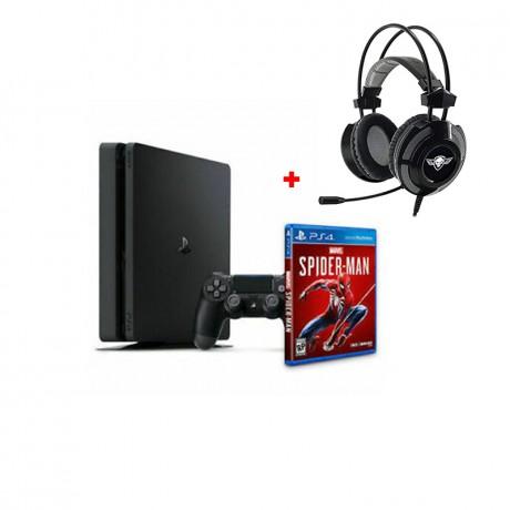 Console PS4 1tb+SPIDER MAN + Casque Elite-H70 prix tunisie