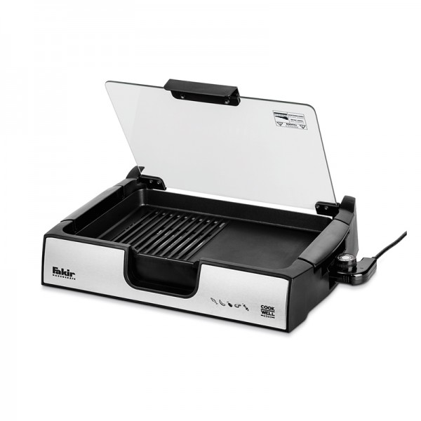 Barbecue avec couvercle Fakir sans fumée 950 Watt - Noir (COOK-WELL)