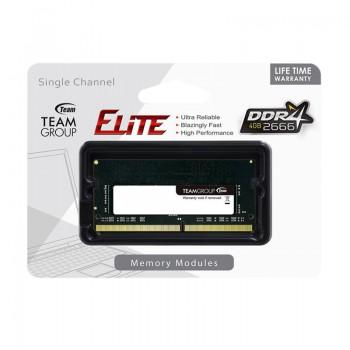 Barrette Mémoire TEAM GROUP Elite 4Go DDR4 2666MHz Pour PC Portable prix tunisie