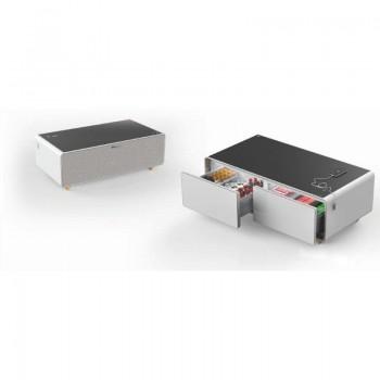 Table basse connectée avec réfrigérateur intégré montblanc 150l tbsm150b Blanc